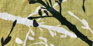 Close up of dyed fabric