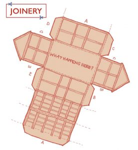 Image for Joinery of a barn diagram that you can cut out at make.
