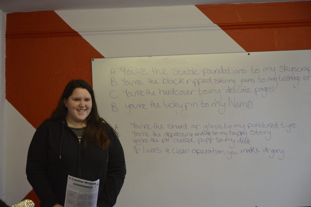 Young Person performing a poem